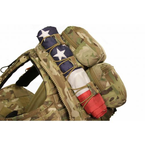 USA Flag & MC Webbing Bungies Set