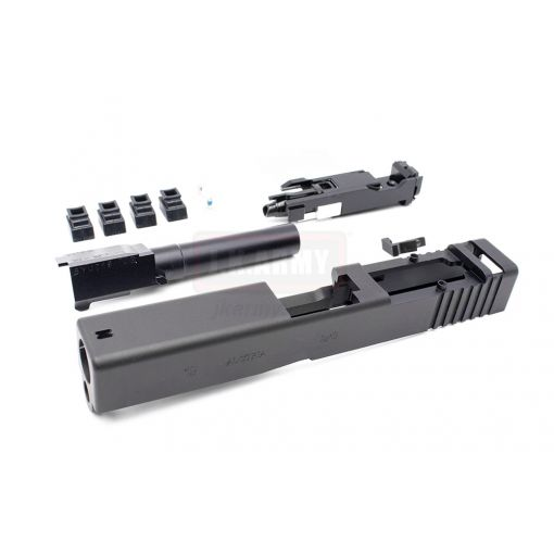 Volante CNC 7075 Aluminum 19 RMR Cut Slide with BBU for Tokyo Marui TM G19 GBBP Series ( Black )