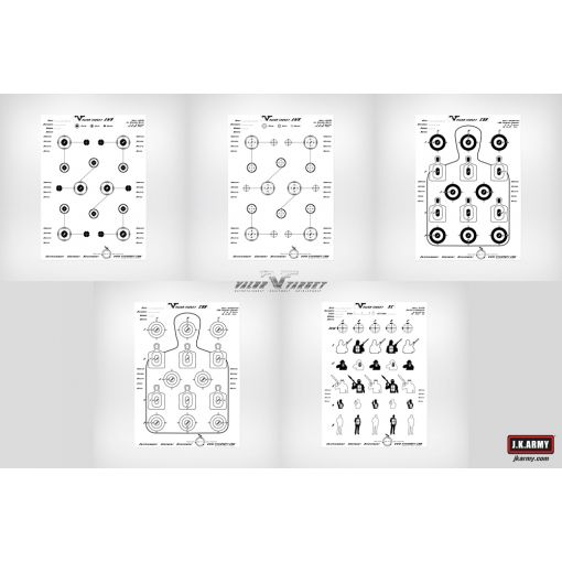 VTA Target Sheet / Assorted Set ( 10 sets / bag)