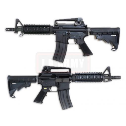 WE M4CQB Gas Blow Back Open Chamber Rifle Black Edition (GBB)