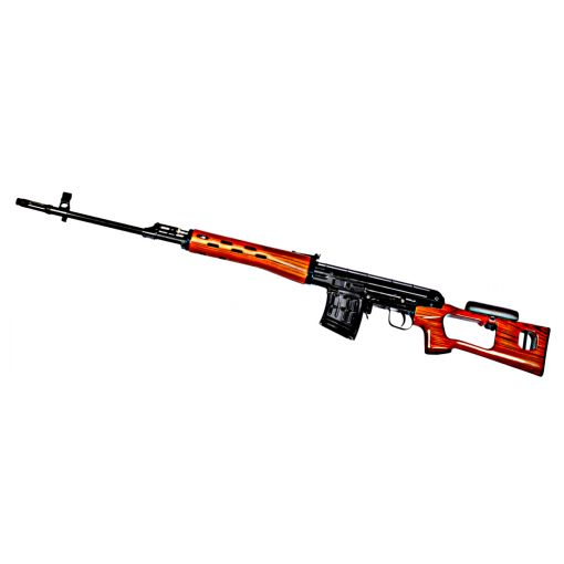 WE ACE VD ( SVD ) Sniper GBB Rifle ( Real Wood , Aluminum )