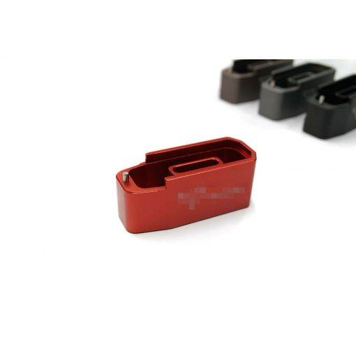 CNC Aluminium Mock - Extension for Polymer Magazine M3 w/ T Engravings for PTW & GBB ( MWS ) ( RED )