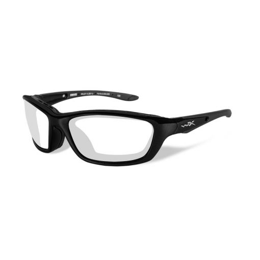 WILEY X Brick Clear Lens/Gloss Black Frame Shooting Glasses