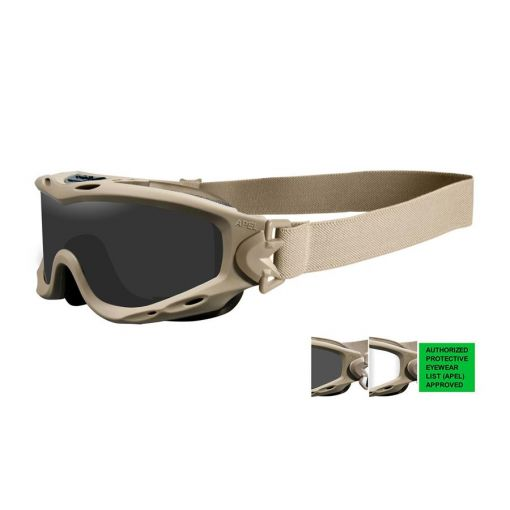 WILEY X Spear APEL Goggle Grey/Clear/Tan Frame