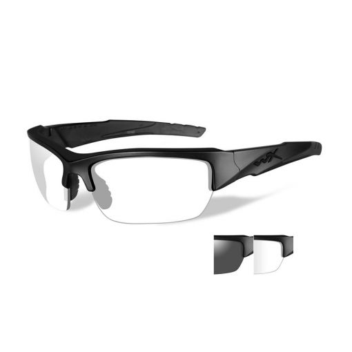 WILEY X Valor Grey/Clear Lens/Matte Black Frame Shooting Glasses
