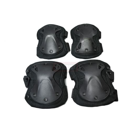 Transformers Style Tactical Knee And Elbow Pads Set ( Black )