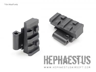 Hephaestus AK Picatinny Rail Stock Adapter for GHK / LCT AK Series with Side-folding Stock Receiver
