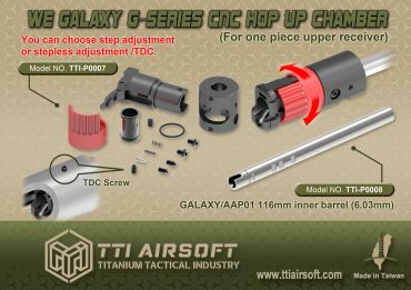 TTI Airsoft CNC Hop-Up Chamber for Galaxy G-Series GBB Airsoft