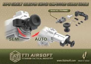 TTI Airsoft Selector Switch Competition Charge Handle for AAP-01 ( AAP01 )