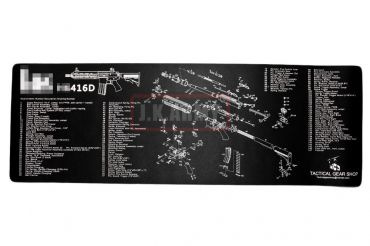 416D Style Exploded View Cleaning Mat / Mouse pad