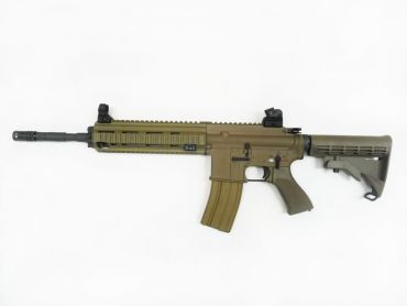 WE 416 Gas Blow Back Open Chamber Rifle Tan Edition ( GBB )