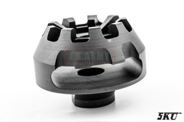 5KU Cookie Cutter Flash Hider for Airsoft ( Type 2 ) ( 14mm CCW )