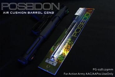 Poseidon Air Cushion Pistol Barrel 129mm ( For Action Army AAC / AAP01 , Marui / WE ) ( Hop Up Rubber Not included )