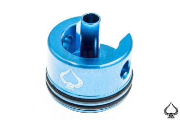 A1A Aluminum Silent Cylinder Head for Ver.3 ( AK ) Gearbox Type A ( Blue )