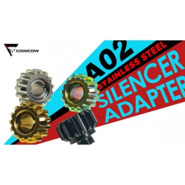 COW A02 Silencer / Outer Barrel / Tracer Adapter M11 CW to M14 CCW ( 11mm + to 14mm - )