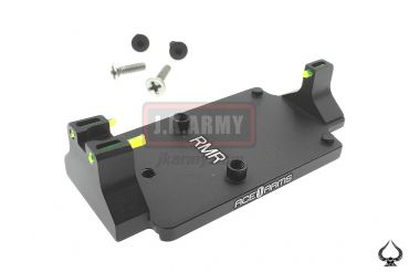 Ace1 Arms Dueck Defense Style Red Dot Back Up Sight Base ( BK )