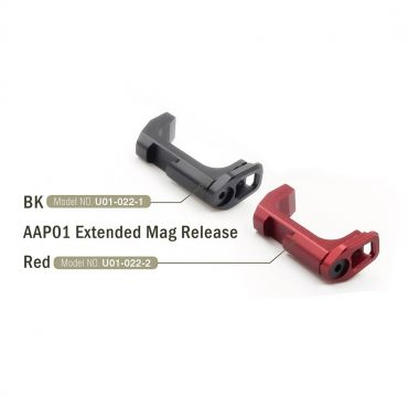 Action Army AAP01 Extended Mag Release ( Black / Red ) ( AAP-01 )
