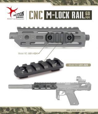 Action Army CNC M-LOK Rail Section ( 60mm )