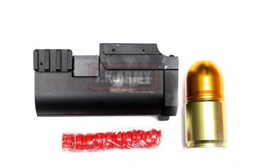 AF Metal 40mm Grenade Launcher with 40mm Paintball/Airsoft Short Grenade ( BK )