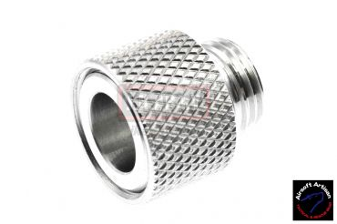Airsoft Artisan Steel Muzzle Hider Adapter w/Thread Protector for WE GBB ( +11mm to -14mm )