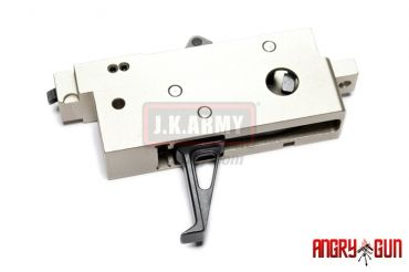 Angry Gun CNC Adjustable Competitive Trigger Box for WE M4 GBB ( Black Trigger )