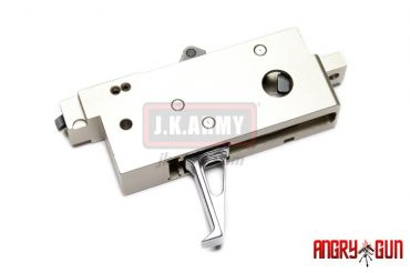 Angry Gun CNC Adjustable Competitive Trigger Box for WE M4 GBB ( Silver Trigger )