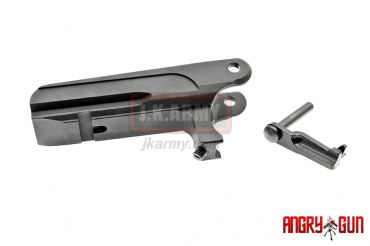 Angry Gun CNC Integral Rail Light Mount and CNC Steel Slide Stop for 1911