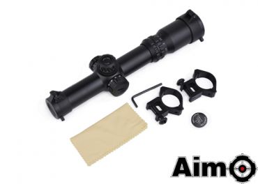 Aim-O 1-4x24SE Tactical Scope( Red / Green Reticle ) ( Black ) ( NF Style )