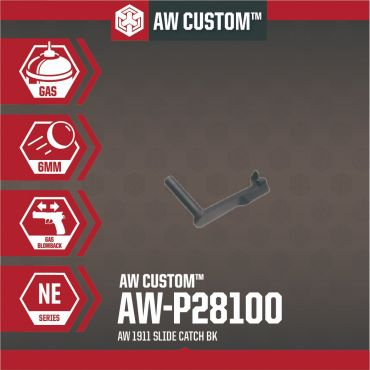 AW Slide Catch for AW 1911 GBBP Series ( Black )
