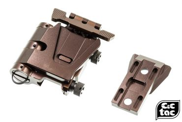C&C Airsoft Flip Mount For G33 / G32 3x Magnifier ( Glossy Copper Brown )