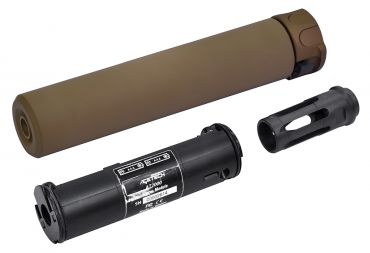 DYTAC SOCOM RC1 BBs UV Tracer Unit Ready Silencer w/ SFCT-556 Style 14mm CCW Flash Hider ( Acetech AT2000 )