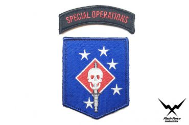 FFI - MARINE RAIDERS Sword and Special Operations Patch Set Blue Type ( MRS ) ( MARSOC )