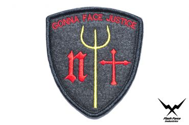 """FFI - Navy Seals Trident """" GONNA FACE JUSTICE """" Patch ( BK ) ( Free Shipping )"""