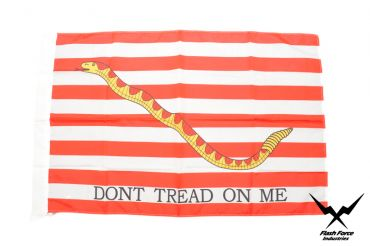 Navy Jack ( Dont Tread On Me ) ( Red ) Flag ( Size:No.4 )