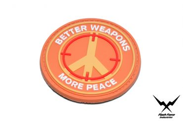 FFI Soft PVC Patch - Better Weapon More Peace ( Free Shipping )