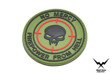 FFI Soft PVC Patch - No Mercy Firepower From Hell ( Free Shipping )