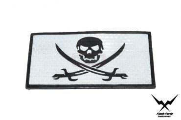 FFI PVC Reflective Patch - Jolly Roger ( Free Shipping )