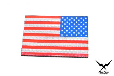 FFI PVC Reflective Patch - USA Flag ( Full Color ) ( Star in the right ) ( Free Shipping )