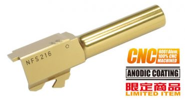 Guarder Stainless Steel CNC Titanium Golden Outer Barrel for Marui Model 26 ( G26 )