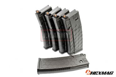 Hexmag Airsoft 120rd Magazine for PTW M4 ( 5 Pcs Pack - BK )