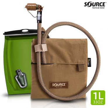 SOURCE Kangaroo Collapsible Canteen 1L with Hydration Pouch ( Coyote )