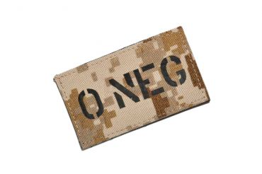 Infrared Reflective Patch - O- NEG ( AOR1 ) ( Free Shipping )