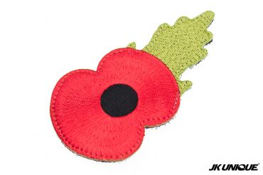 JK UNIQUE Patch - Remembrance Poppy Patch / Red Cremation Flowers Patch ( Free Shipping )