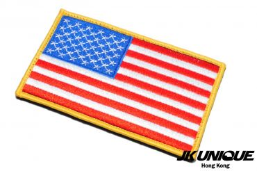 JK UNIQUE Patch - USA FLAG ( Full Color ) ( Left ) ( Big Size ) ( Free Shipping )