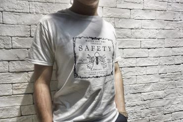 JK UNIQUE Flying Angel Style SAFETY Tee ( White ) ( T Shirts )