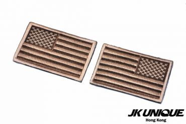 JK UNIQUE Patch - USA FLAG ( Tan ) ( Left / Right ) ( Free Shipping )