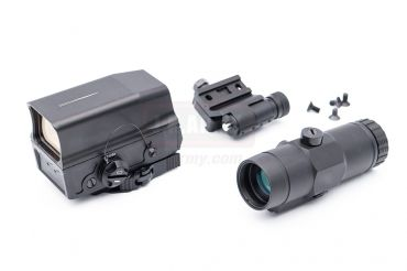 MF V-R Style UH-1 Red Dot Sight with 3T Magnifier Airsoft Combo