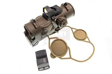 MF Spec DR 1x-4x Style Airsoft Scope w/ Doctor Style Mini Red Dot ( Brown )