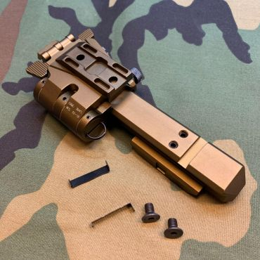 G33 Magnifier Flip Mount and High Risers Mount Rail ( Copper Brown ) ( G23 ) ( CAG Style ) ( Free Shipping )