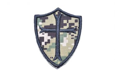 Navy Seals Crusader Cross Patch ( AOR2 ) ( Free Shipping )